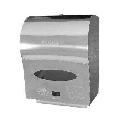 Автоматический сенсорный диспенсер полотенец ksitex a1-21s антивандальный