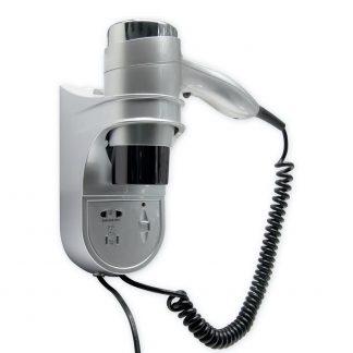 Фен настенный для волос Ksitex F-1400 SS серебрянный-серый