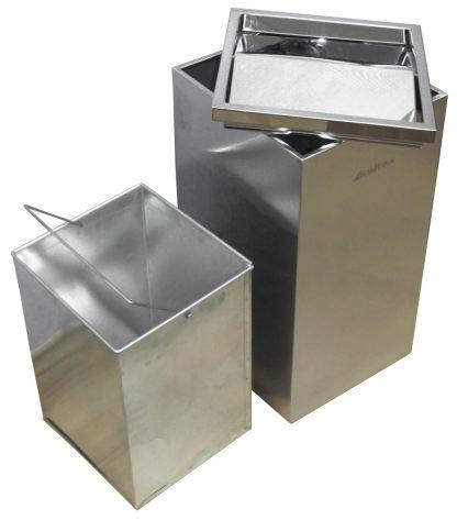 Мусорный бак с металлическим внутренним ведром и вращающейся крышкой